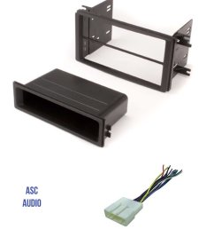 asc car stereo install dash kit and wire harness for installing an aftermarket single or double din radio for 2009 2013 subaru forester 2008 2011 subaru  [ 1200 x 1530 Pixel ]