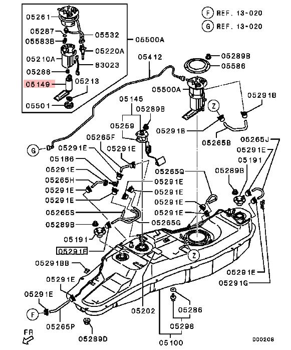Fuel Tank Pump For Mitsubishi Pajero Montero V83 V85 V87