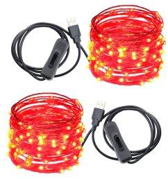 usb led string lights er chen tm 100 leds 33ft waterproof copper wire [ 1000 x 1000 Pixel ]