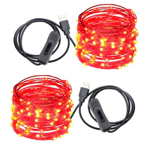 small resolution of usb led string lights er chen tm 100 leds 33ft waterproof copper wire