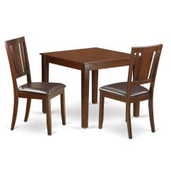 Affordable Kitchen Table Sets Home Depot Remodeling Cheap Dining Chairs Find Get Quotations East West Furniture Oxdu3 Mah Lc 3piece Small Set With One Oxford