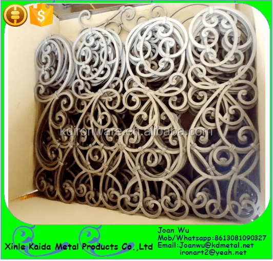 Decorative Wrought Iron Tuscan Panels For Stair Railings