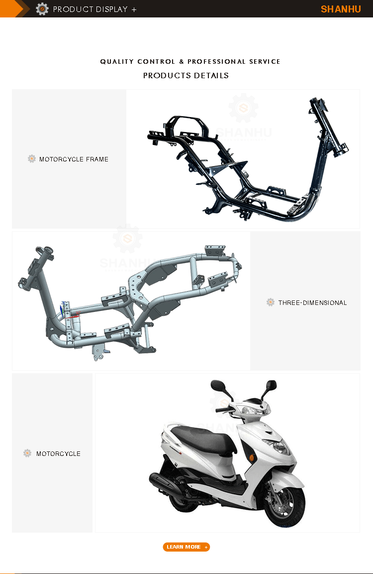 Customized Oem Available Chinese Motorcycle Body Frame