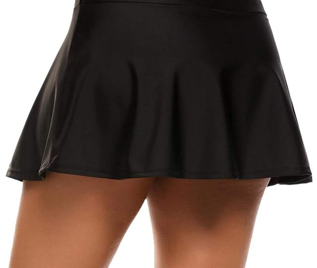 Get Quotations  C B Aimado Womens Solid Board Shorts Swimming Skirt Bottom With Panty S Xxl