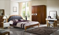 North European Style Wood Bedroom Furniture Set