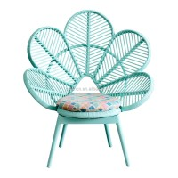 Pink And Green Cute School Furniture Flower Shaped Pe ...
