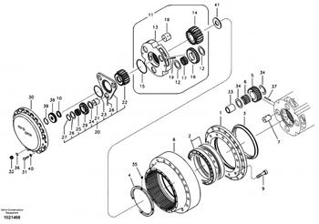 Volvo Ec360b Travel Gearbox Parts,Ec360b Final Drive