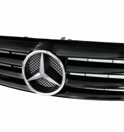 get quotations for mercedes benz w203 c class sport grille all black c200 c230 c240 c280 c320 c350 [ 1500 x 1000 Pixel ]