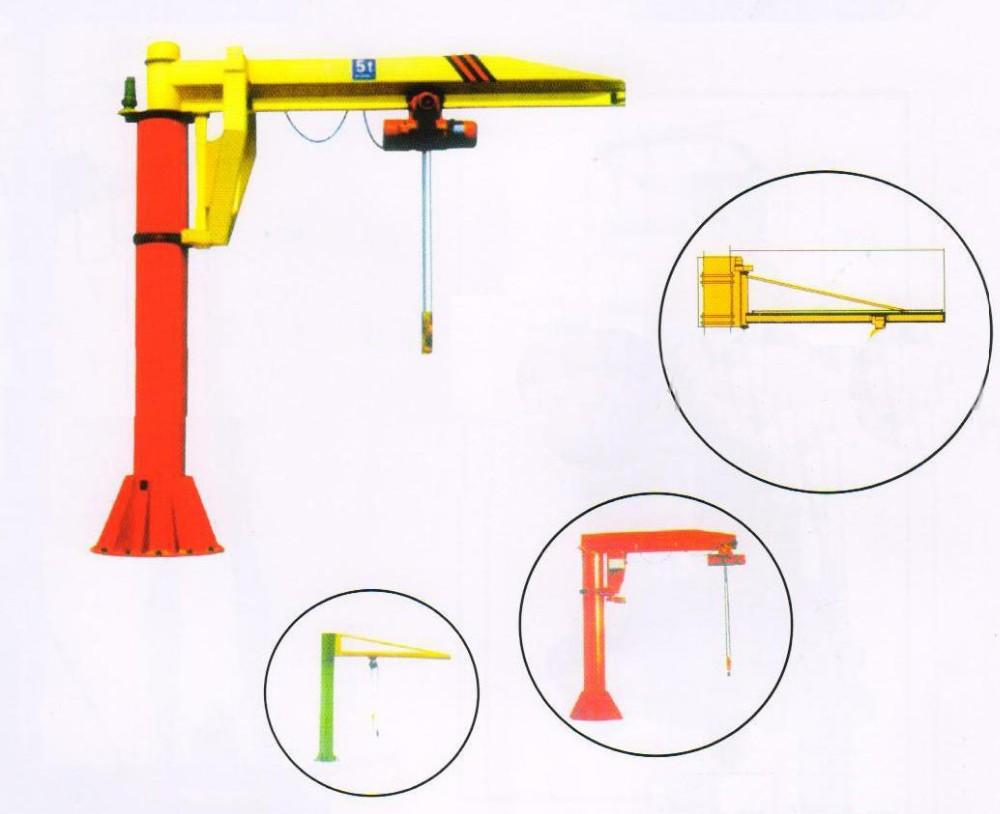 hight resolution of harga hoist crane 5 ton with hoist lifting rotating 360 angle