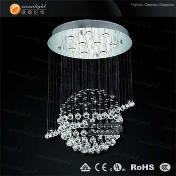 Single Ball Chandelier Crystal Planet Cute Design Om9131