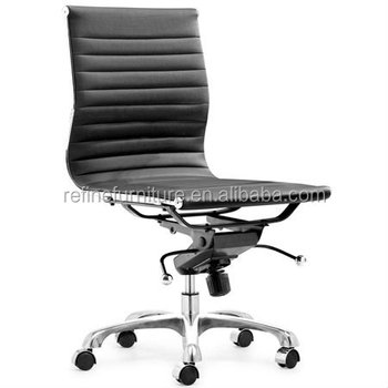 office chair without arms how to install a rail mid back modern task executive desk white no for hotel rf s075w