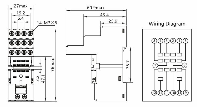 14 pin relay socket wiring diagram 1978 chevy silverado power electrical switch mini size buy