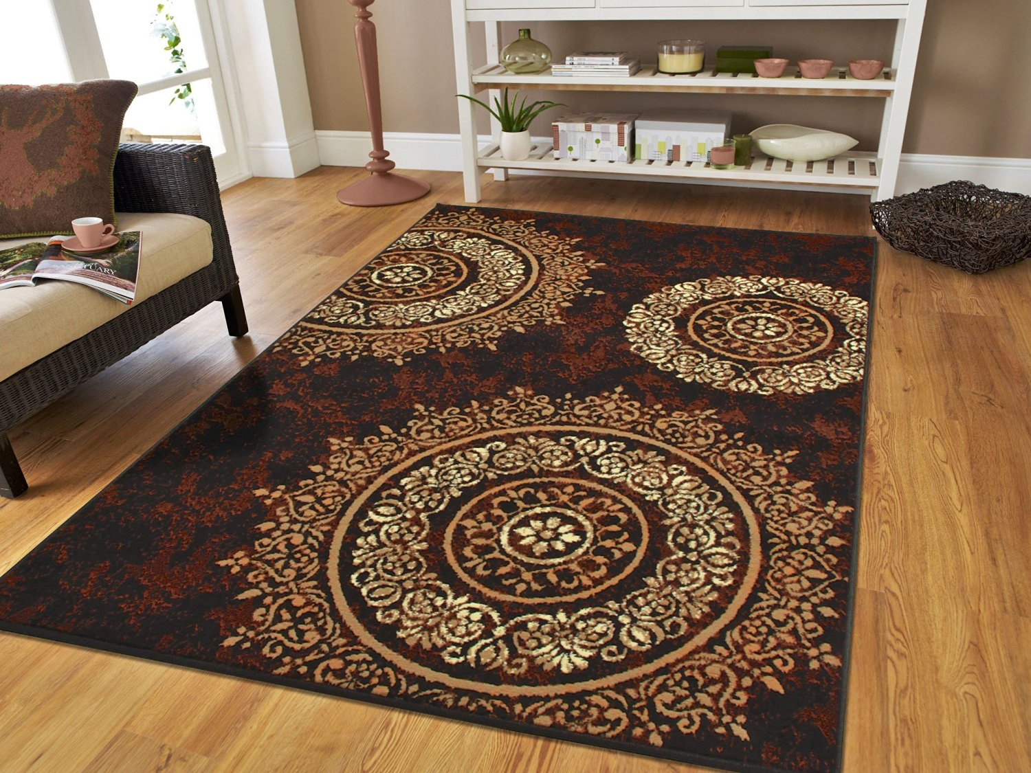 2x3 kitchen rug japanese knives cheap rugs find deals on line at get quotations luxury century brand new contemporary brown and beige modern circles area 2 x3