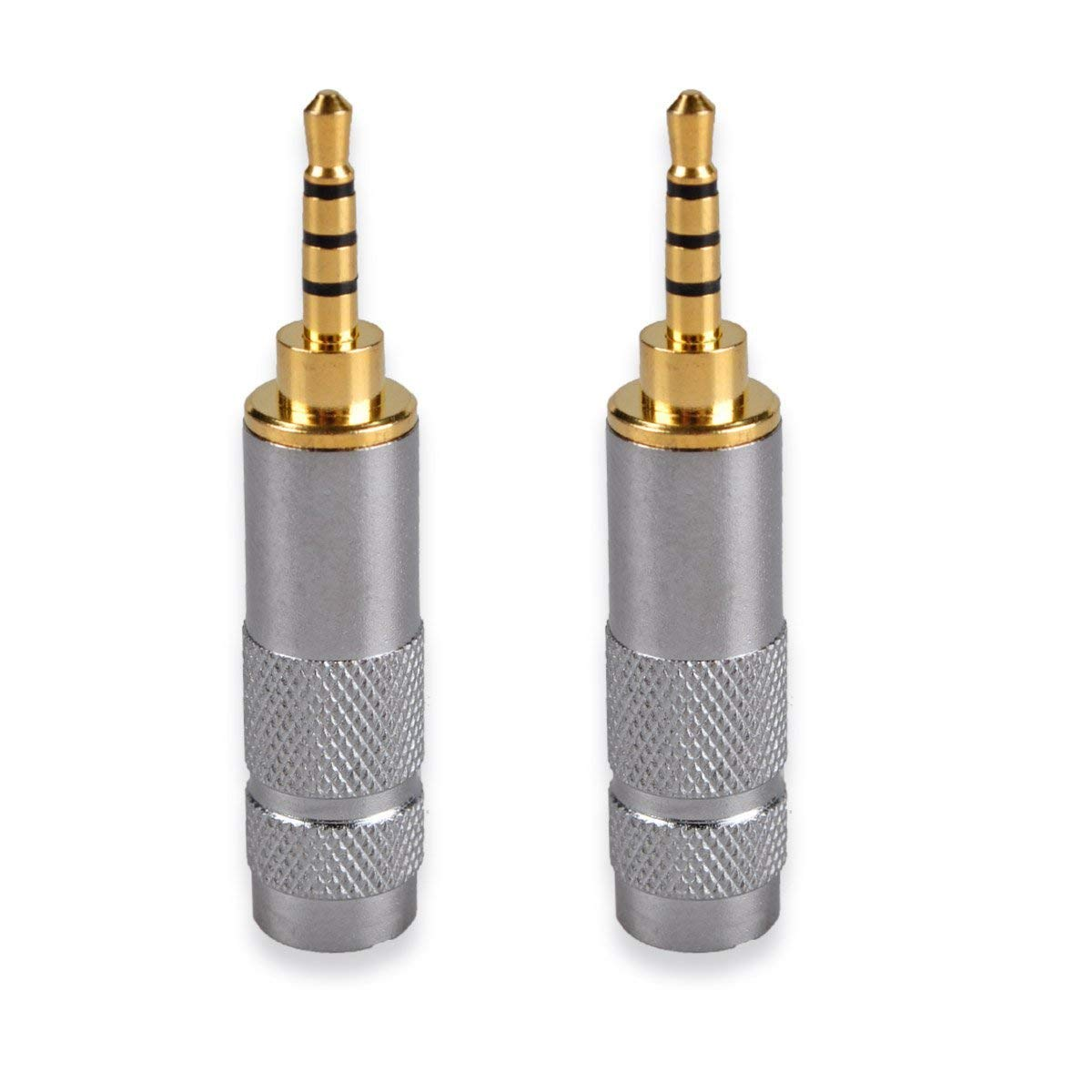 hight resolution of get quotations httx 2 5mm stereo trrs 4 pole male conductor connector replacement for headphone jack solder type
