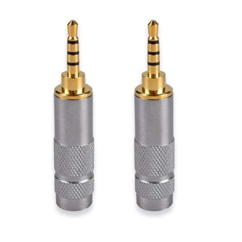 small resolution of get quotations httx 2 5mm stereo trrs 4 pole male conductor connector replacement for headphone jack solder type