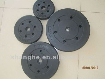 Plastic Coated Barbell Weight Plates