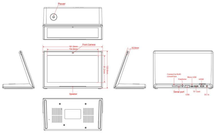 10inch IPS Screen Android Tablet PC Capacitive Touch 1080p