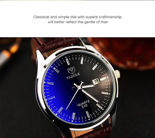 Relogio Masculino 2019 Brand Yazole Watch Business Belt Men's Watch Calendar Fashion Quartz Watch Unique Leisure Leather Watches