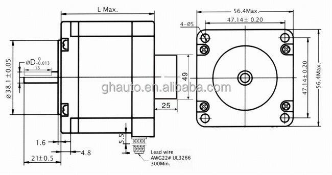 Professional 2 Phase Nema 23 Closed Loop Stepper Motor