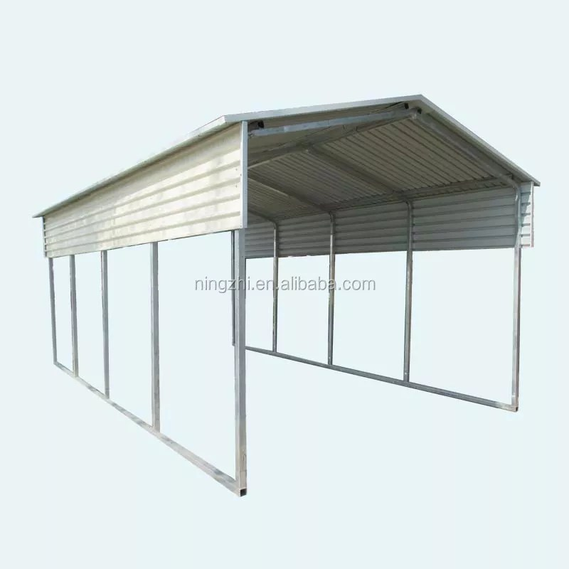 Architectural Vertical Roof Style Galvanized Steel Carport Shed