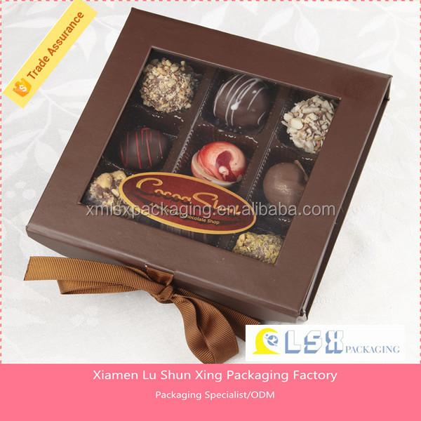 Homemade Chocolates Gift Box Hard Paper Chocolate