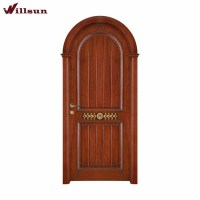 Strong Quality Wooden Arched French Doors Finished Surface ...