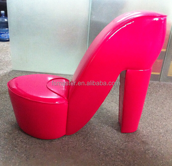red heel chair patio slings fashion color high shoe shape pu buy