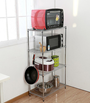 kitchen storage racks appliances online chrome plated dismountable wire