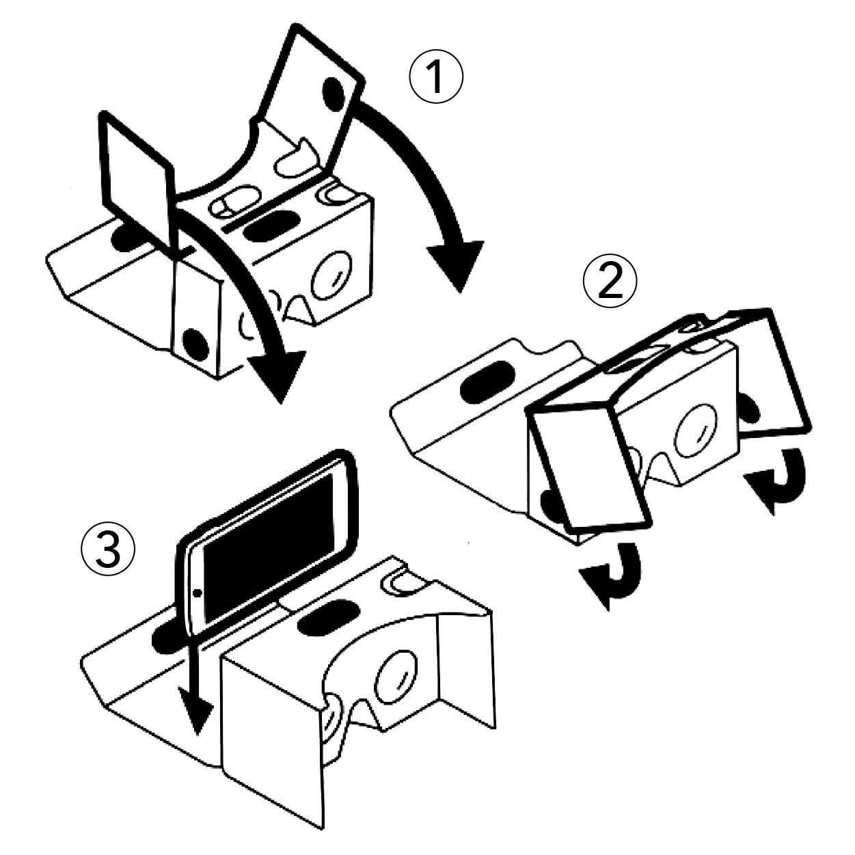 Custom Printing Cardboard 3d Vr Viewer Virtual Reality