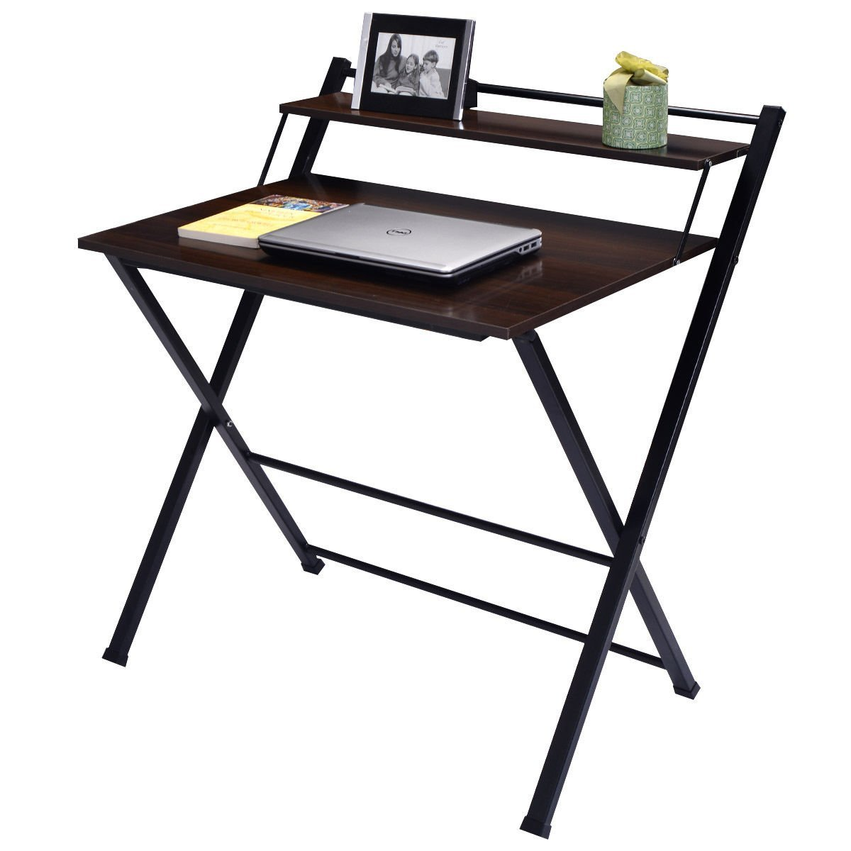 Buy Wakrays 2Tier Folding Computer Desk Home Office