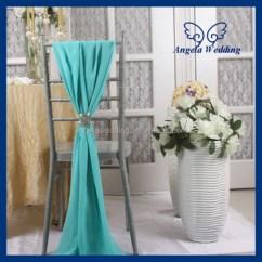 Banquet Chair Covers Cheap Bistro Chairs Sh003b Wholesale Elegant Fancy Wedding Tiffany Blue Chiffon Sash With Buckle - Buy ...