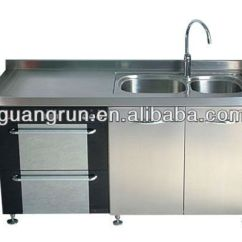4 Piece Kitchen Appliance Package Restaurant Doors Commercial Stainless Steel Sink Cabinet Gr-g2000 ...