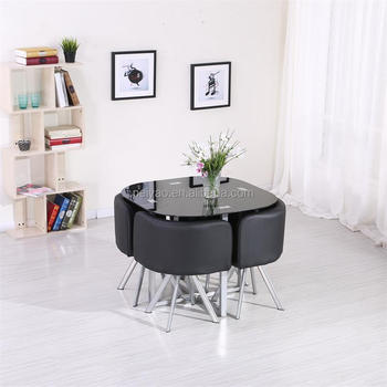2017 New Design Space Saving Hideaway Dining Table And Chair Set Buy Dining Table And Chair Set Dining Table Set Dining Table Chair Product On Alibaba Com