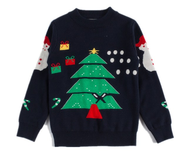 Get Quotations  C B Christmas Snowman Knitted Sweater For Boys And Girls Winter Sweaters Kids Outwear Double Cotton Pullover