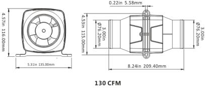 Hydrule Newly Marine Dc 12v 3'' Electric In-line Bilge