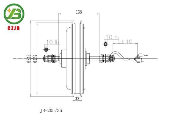 JIABO JB-205/35 1000w electric bicycle and bike hub motor
