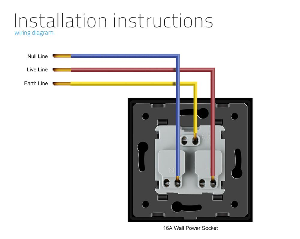 medium resolution of livolo new outlet french standard wall power socket vl c7c1fr 12 black crystal glass