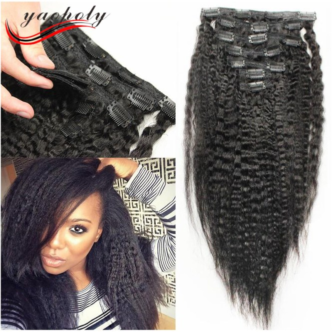 Natural curly hair clip in extensions the best hair 2017 deluxe double wefted clip in hair extensions 100 human pmusecretfo Images