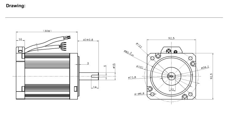Brushless Motor,Automatic Equipment Motor With Long Life