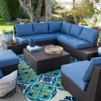 Pacific Navy Blue Aluminum Topped Leisure Garden Outback ...