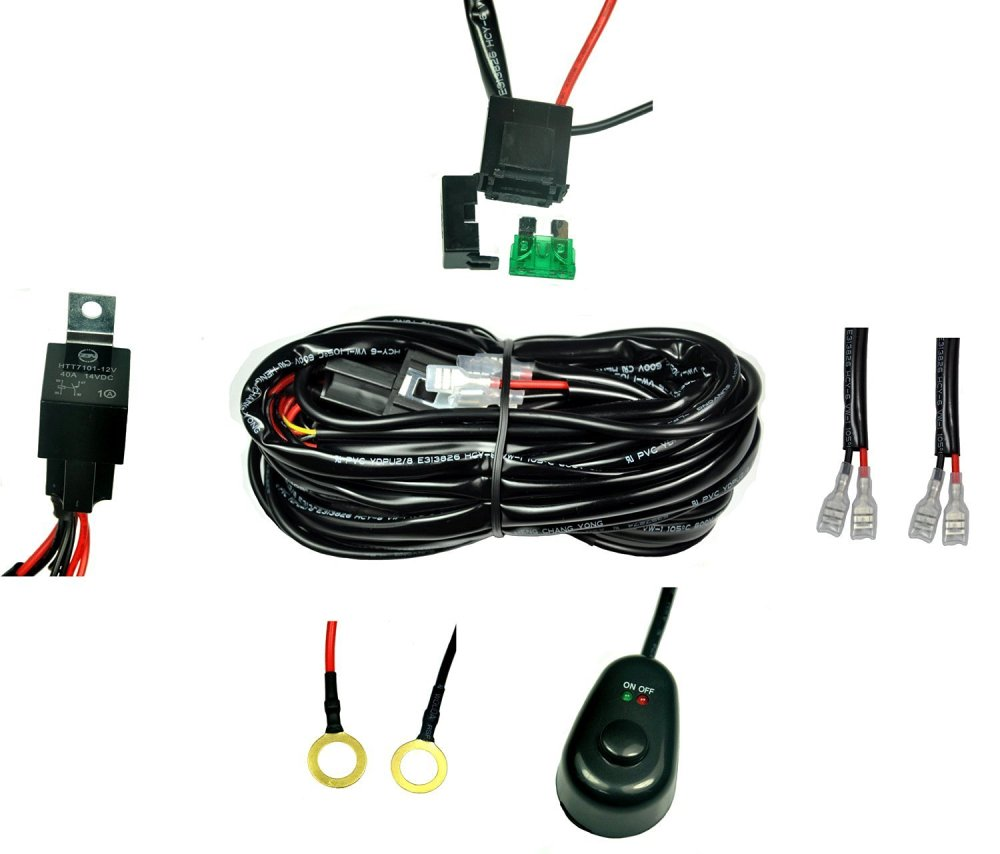 medium resolution of get quotations cutequeen wiring harness kit 40 amp relay on off switch for off