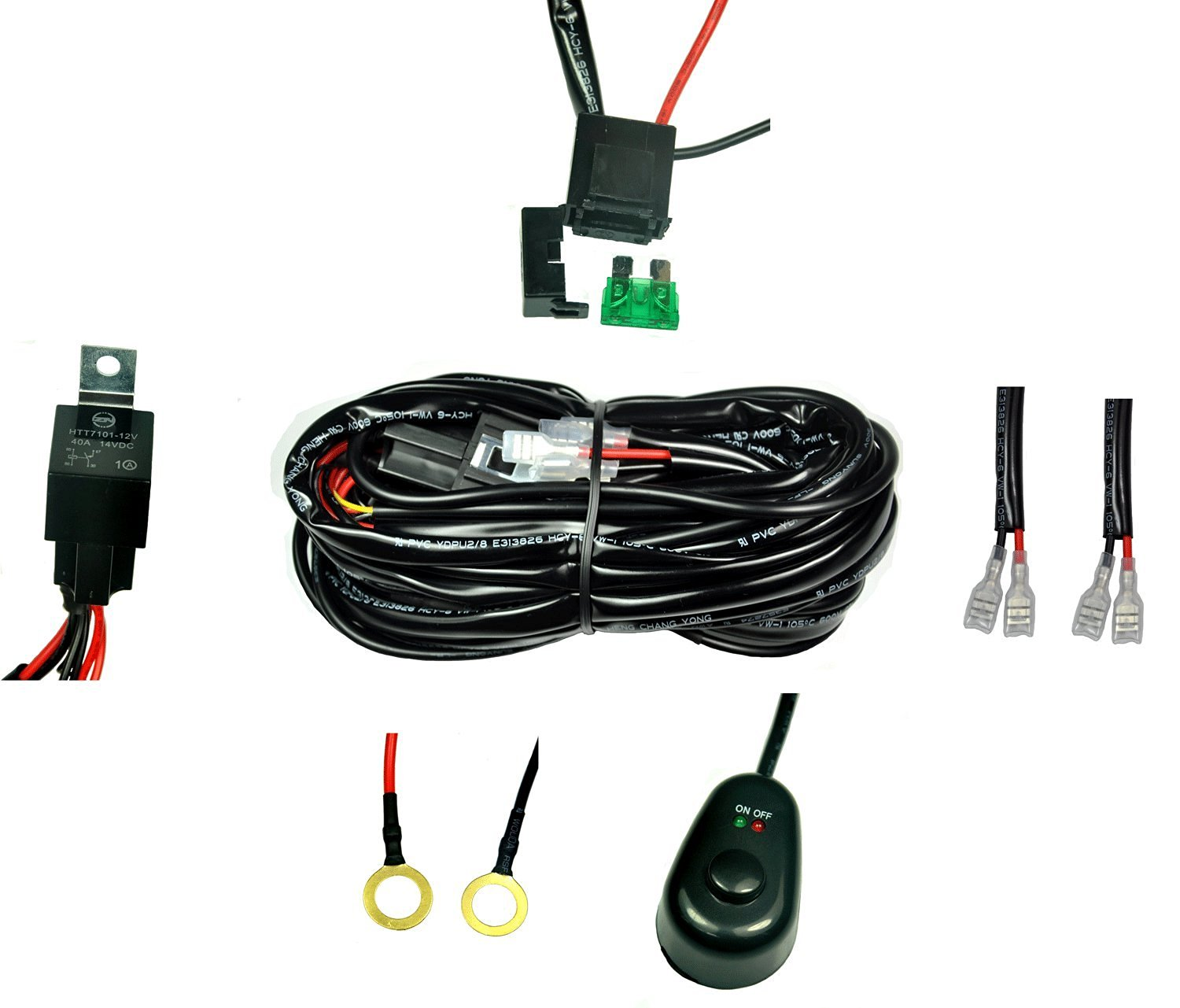 hight resolution of get quotations cutequeen wiring harness kit 40 amp relay on off switch for off