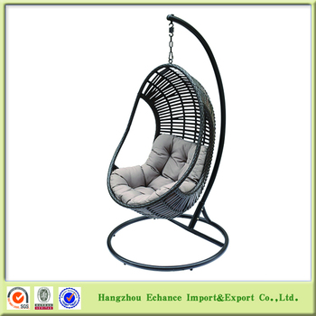hanging chair egg asda christmas covers home swing rattan portable chairs for bedrooms with handles fn4105