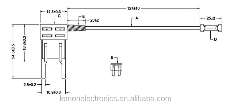 Acs Mini Atm Fuse Adapter Tap Dual Circuit Adapter Piggy