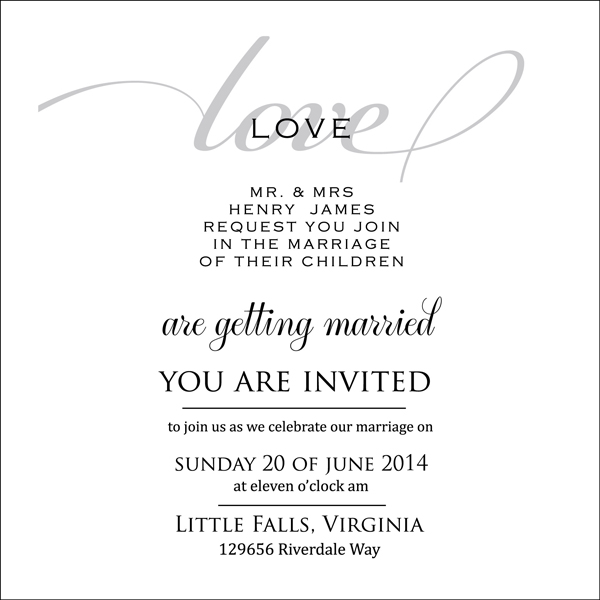 Por Wedding Invitation Card Luxury Printed With Bride And Groom S Name Date