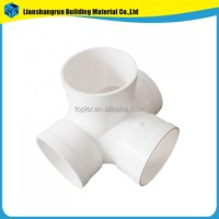 Plastic Pipe Fittings Pvc Angle Cross From China Factory