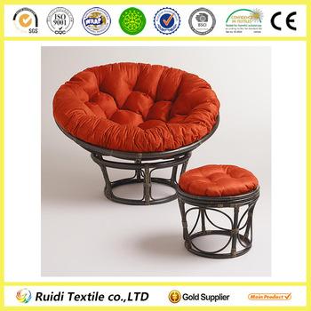 papasan chair stool cushions wheelchair zone rust red micro suede cushion round