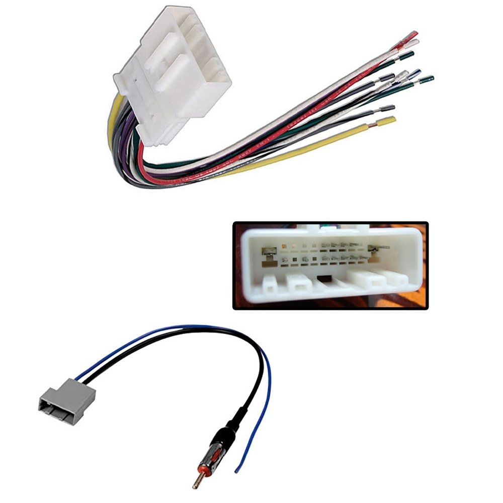 medium resolution of nissan car stereo wiring harness radio antenna adapter 370z altima armada cube frontier juke maxima murano nv2500 nv3500 pathfinder