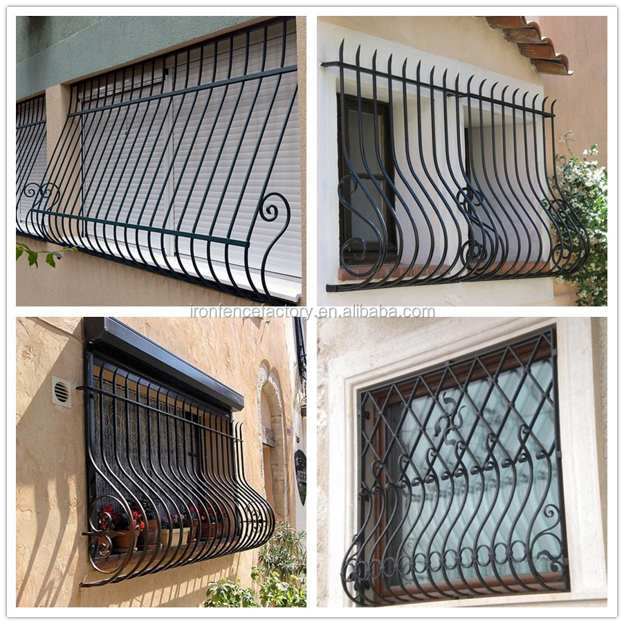 2016 Factory Direct Price Latest Simple Modern Iron Window