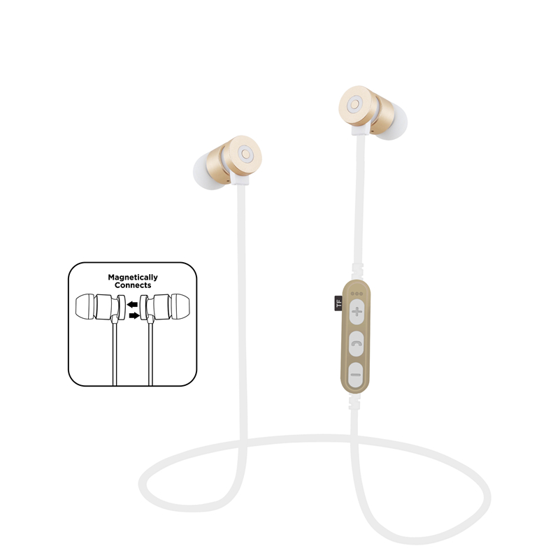 SMILYOU T9 Metal Magnetic Bluetooth 4.2 Earphone Headset